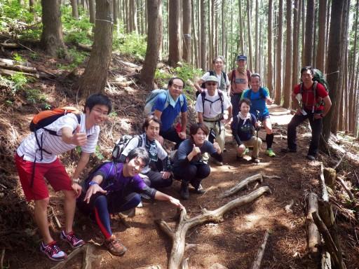 ハイキング班とトレラン班の交流