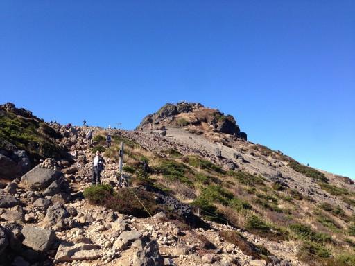 安達太良山山頂付近