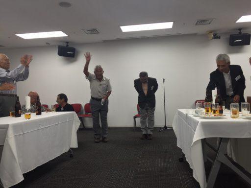 閉会挨拶(左から17代山本さん、18代寺光さん、19代吉野さん)