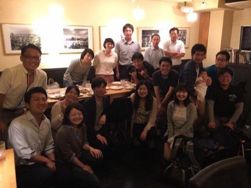 田中前コーチ有志送別会の集合写真