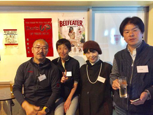 35代大家さん・尚子さんと10代小田切さん奥様、35代栗原さん